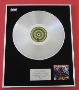 IRON MAIDEN - The Number Of The Beast PLATINUM LP PRESENTATION Disc